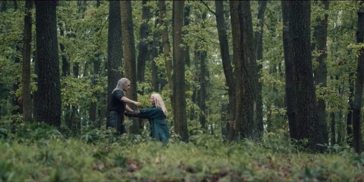 """Image de la rencontre entre Geralt et Ciri dans la saison 1 de """"The Witcher""""."""