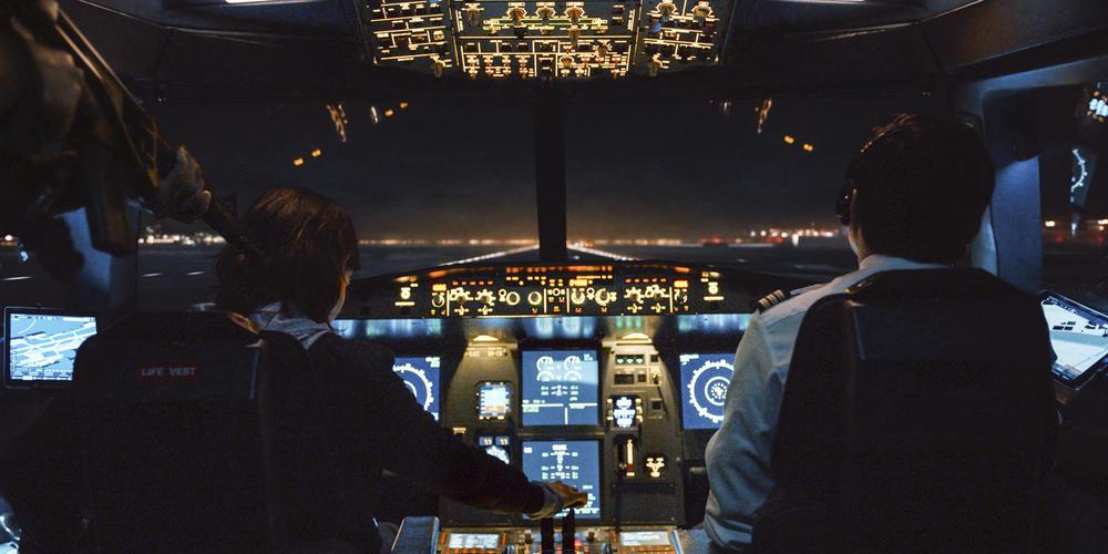 Into the night : l'atterrissage risqué fait par Mathieu et Sylvie