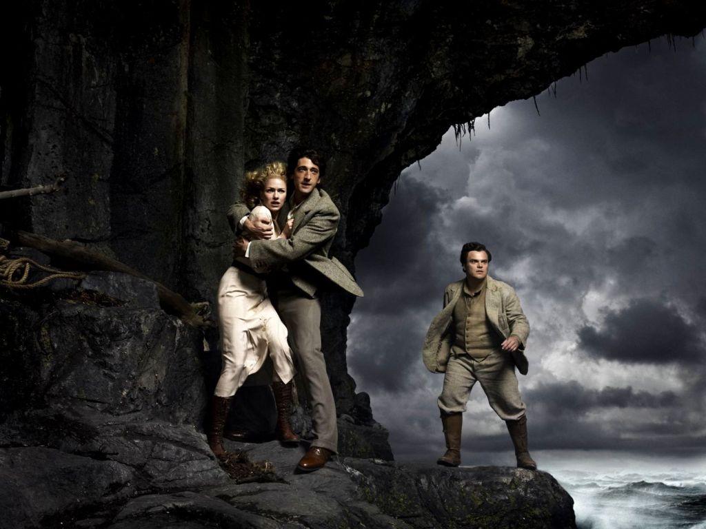 Image de Anne Darrow ( Naomi Watts), Jack Driscoll ( Adrien Brody) et Carl Denham ( Jack Black).