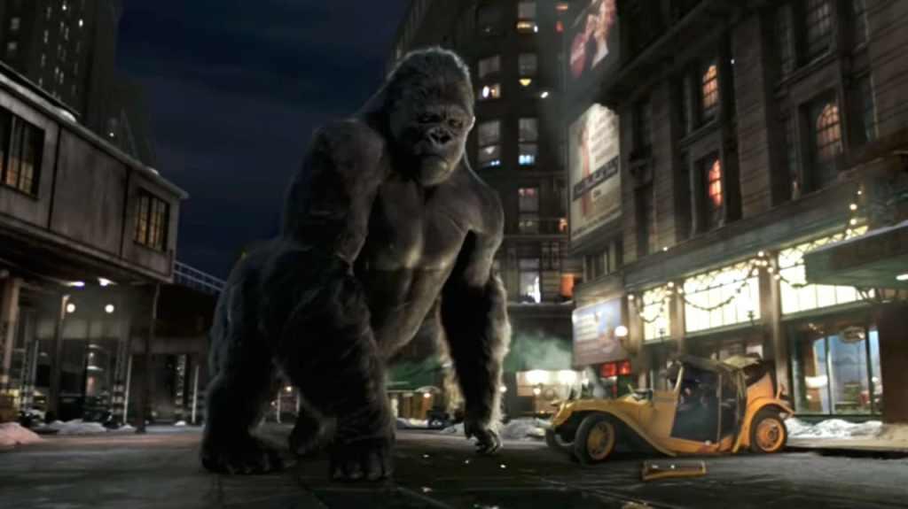 Image de King Kong dans les rues de New York.
