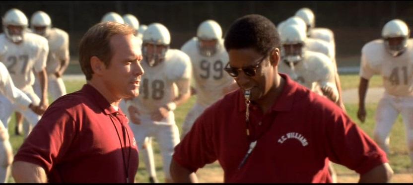 Denzel Washington et Will Patton dans les rôles du coach Yoast et Boone