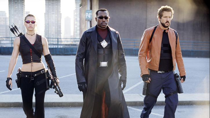 "Image de Jessica Biel, Wesley Snipes et Ryan Reynolds dans ""Blade : Trinity""."