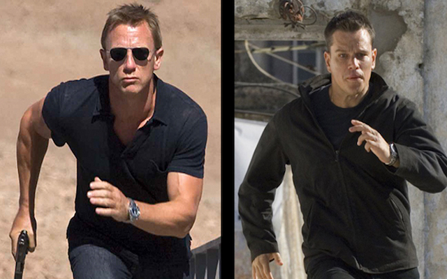Image mise en avant de James Bond et Jason Bourne