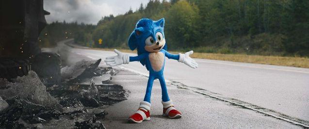 """Image de Sonic dans le long-métrage """"Sonic, le film""""."""